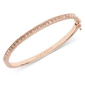 NWT Givenchy Rose Gold Swarovski Bangle Bracelet